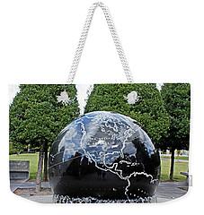 Weekender Tote Bag featuring the photograph World War II Globe Bicentennial Tennessee by Kristin Elmquist