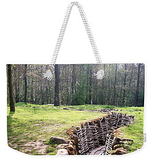 Weekender Tote Bag featuring the photograph World War One Trenches by Travel Pics