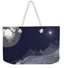 Weekender Tote Bag featuring the digital art 1657 - Worlds - 2017 by Irmgard Schoendorf Welch