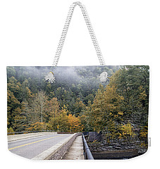 Worlds Ends Exit Road In The Fall Weekender Tote Bag
