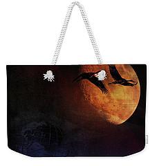 Weekender Tote Bag featuring the digital art World's Fair Birds by Richard Ricci