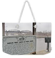 Worlds First Large All Steel Bridge Weekender Tote Bag