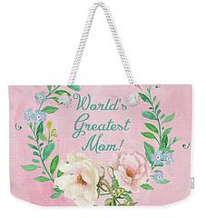World's Greatest Mom Weekender Tote Bag