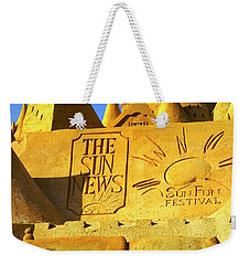 Worlds Largest Sand Castle Sun News Weekender Tote Bag by Bob Pardue