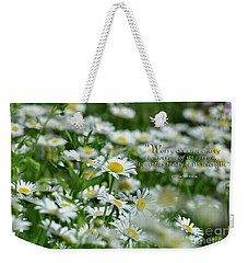 Weekender Tote Bag featuring the photograph Worry by Diane E Berry
