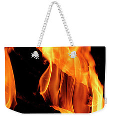 Weekender Tote Bag featuring the photograph worthy of HELL fire by Paul W Faust - Impressions of Light