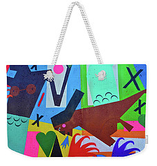 Weekender Tote Bag featuring the photograph Wow Coney by Joan Reese