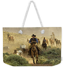 Wrangling The Horses At Sunrise  Weekender Tote Bag