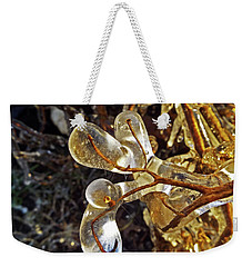 Wrapped In Ice Weekender Tote Bag