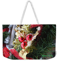 Weekender Tote Bag featuring the photograph Wreath by Shana Rowe Jackson
