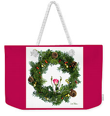 Wreath With Rose Weekender Tote Bag by Lise Winne
