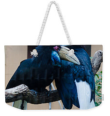 Weekender Tote Bag featuring the photograph Wreathed Hornbills by Donna Brown