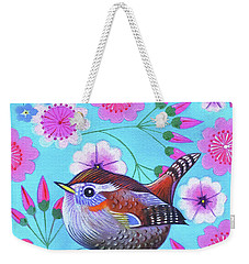 Wren Weekender Tote Bag by Jane Tattersfield
