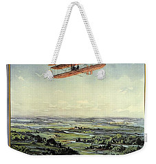 Wright Brothers - World's Greatest Aviators - Dayton, Ohio - Retro Travel Poster - Vintage Poster Weekender Tote Bag