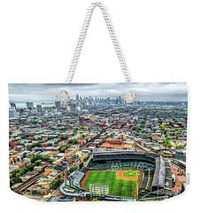 Wrigley Field Chicago Skyline Weekender Tote Bag