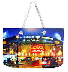 Wrigley Field Home Of Chicago Cubs Weekender Tote Bag