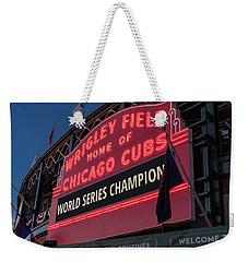Wrigley Field World Series Marquee Weekender Tote Bag