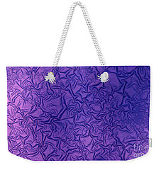 Purple Wrinkles Weekender Tote Bag