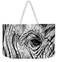 Wrinkled Eye Weekender Tote Bag by Douglas Barnard