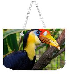Wrinkled Hornbill Weekender Tote Bag