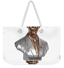 Obama Bronze Bust Weekender Tote Bag by Dothlyn Morris Sterling