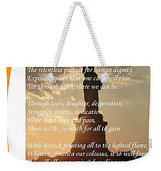 Writer, Artist, Phd. Weekender Tote Bag by Dothlyn Morris Sterling