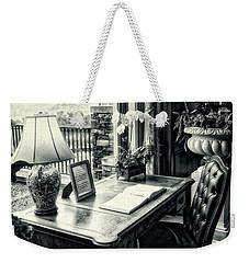 Writing Desk Bw Series 0808 Weekender Tote Bag