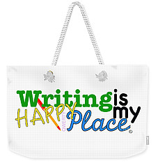Writing Is My Happy Place Weekender Tote Bag by Shelley Overton