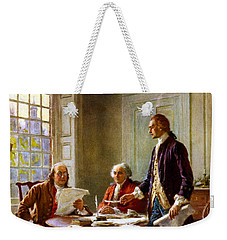Writing The Declaration Of Independence Weekender Tote Bag by War Is Hell Store