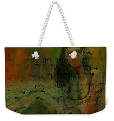 Weekender Tote Bag featuring the painting Written Out by Jim Vance
