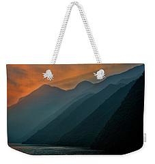 Wu Gorge Sunrise Weekender Tote Bag