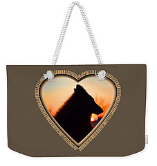 Wuffstar Happiness Is A Long Haired German Shepherd Heart Weekender Tote Bag