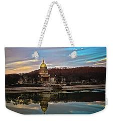 Wv State Capitol At Dusk Weekender Tote Bag