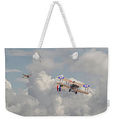 Weekender Tote Bag featuring the photograph Ww1 - The Fokker Scourge - Eindecker by Pat Speirs