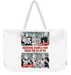 Ww2 Rationing Cartoon Weekender Tote Bag