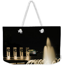 Weekender Tote Bag featuring the photograph Wwii Memorial Fountain by Angela DeFrias