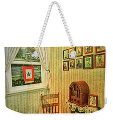 Weekender Tote Bag featuring the photograph Wwii Era Room by Lewis Mann