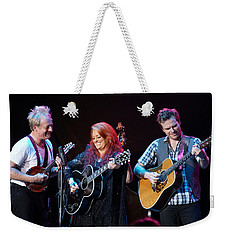 Wynonna Judd In Concert With Hubby Cactus Moser And Band Guitarist Weekender Tote Bag