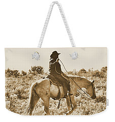 Wyoming Cowboy Weekender Tote Bag