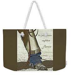 Wyoming Fierce Weekender Tote Bag