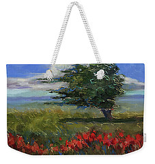 Weekender Tote Bag featuring the painting Wyoming Gentle Breeze by Billie Colson