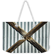 Weekender Tote Bag featuring the photograph X Marks The Spot by Karol Livote