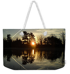 X Marks The Spot Sunrise Reflection Weekender Tote Bag by Kent Lorentzen