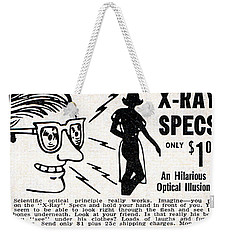 Weekender Tote Bag featuring the digital art X-ray Specs $1.00 by Reinvintaged