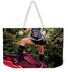 Xena Meets Dragon Weekender Tote Bag
