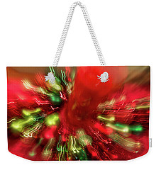 Weekender Tote Bag featuring the photograph Xmas Burst 2 by Rebecca Cozart