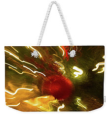 Weekender Tote Bag featuring the photograph Xmas Burst 3 by Rebecca Cozart