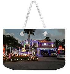 Xmas House Weekender Tote Bag