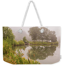 Misty Pond Bridge Reflection #5 Weekender Tote Bag