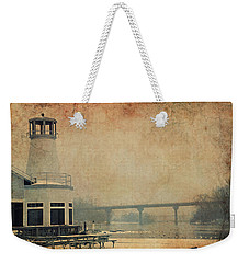 Weekender Tote Bag featuring the photograph Yacht Club On The Fox by Joel Witmeyer
